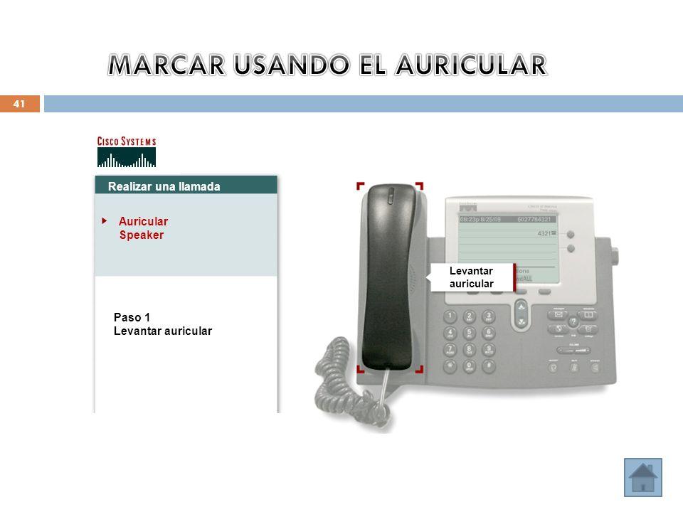 MARCAR USANDO EL AURICULAR