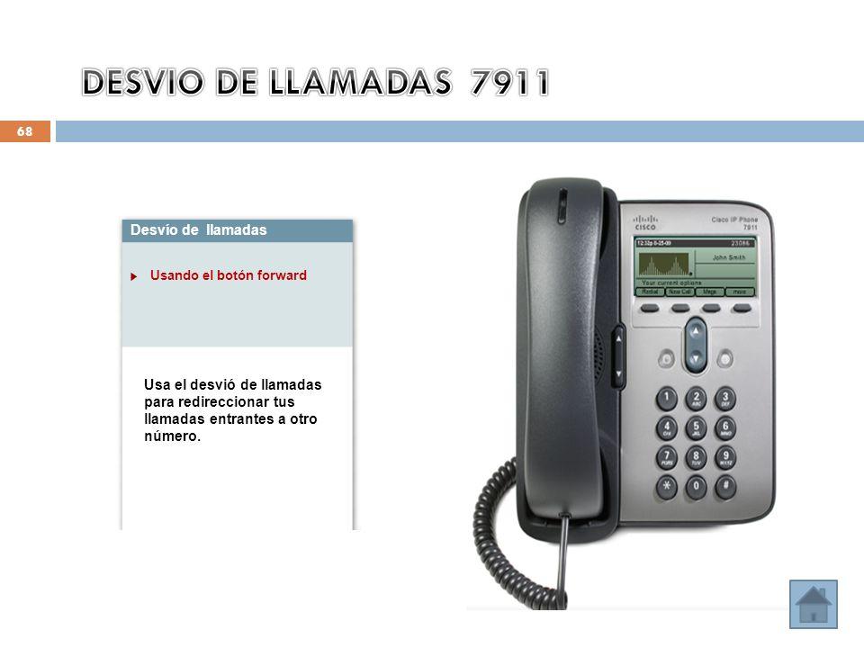 DESVIO DE LLAMADAS 7911 Desvío de llamadas
