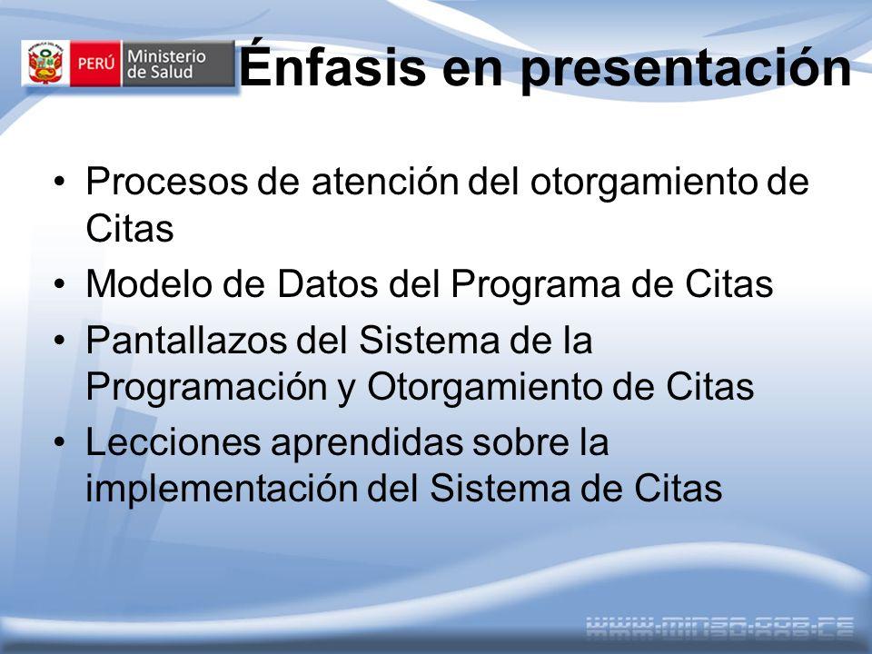 Énfasis en presentación