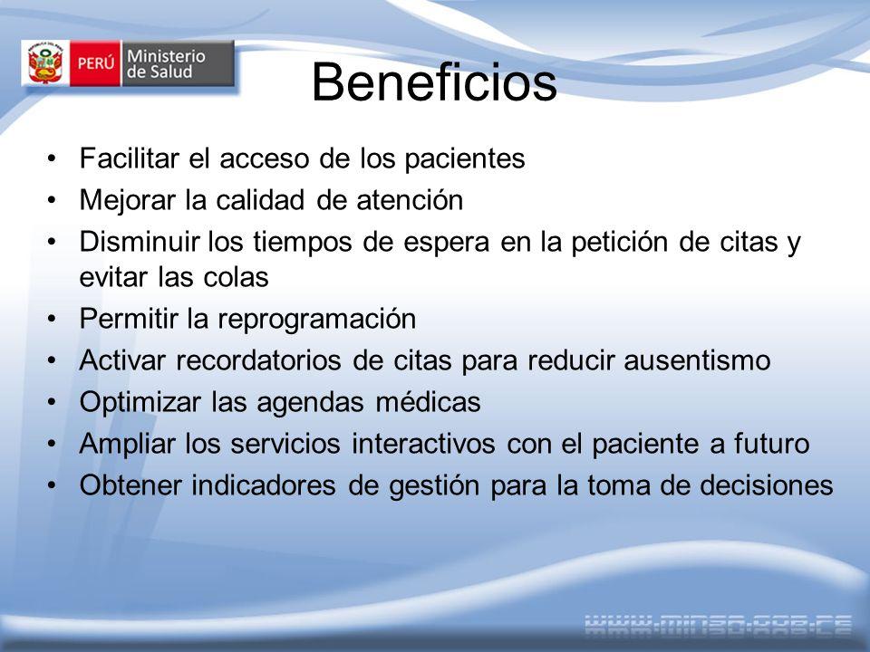 Beneficios Facilitar el acceso de los pacientes