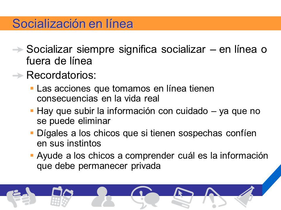 Socialización en línea