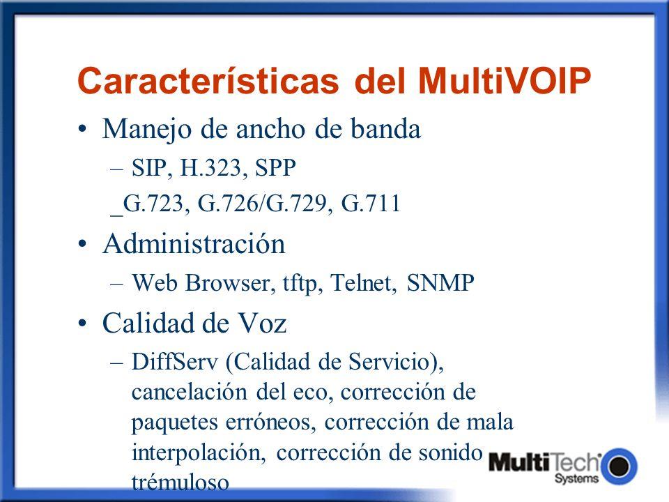 Características del MultiVOIP