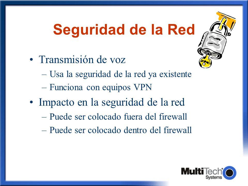 Seguridad de la Red Transmisión de voz