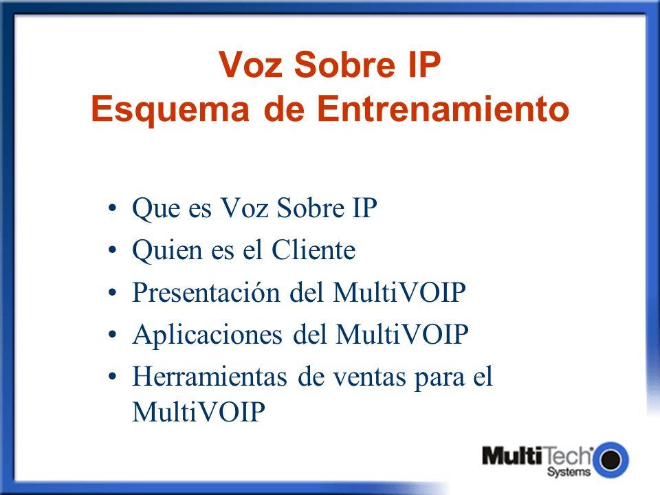Voz Sobre IP Esquema de Entrenamiento
