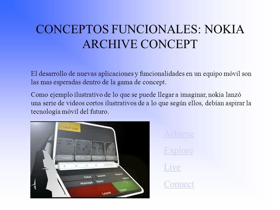 CONCEPTOS FUNCIONALES: NOKIA ARCHIVE CONCEPT