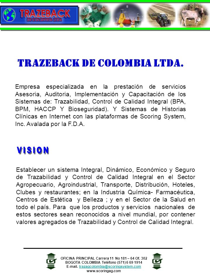 TRAZEBACK DE COLOMBIA LTDA.