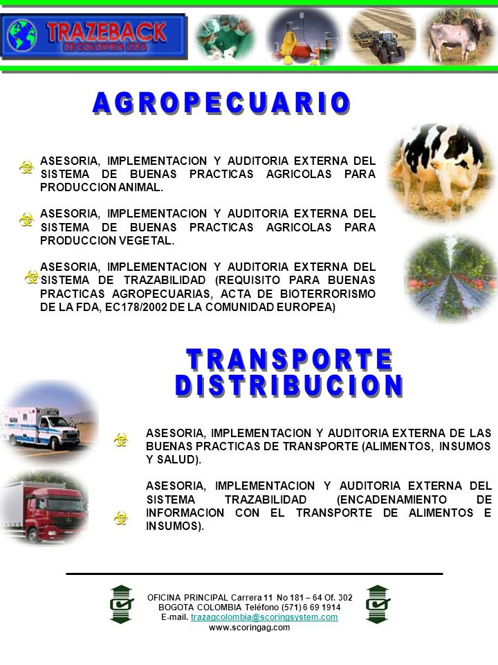 AGROPECUARIO TRANSPORTE DISTRIBUCION