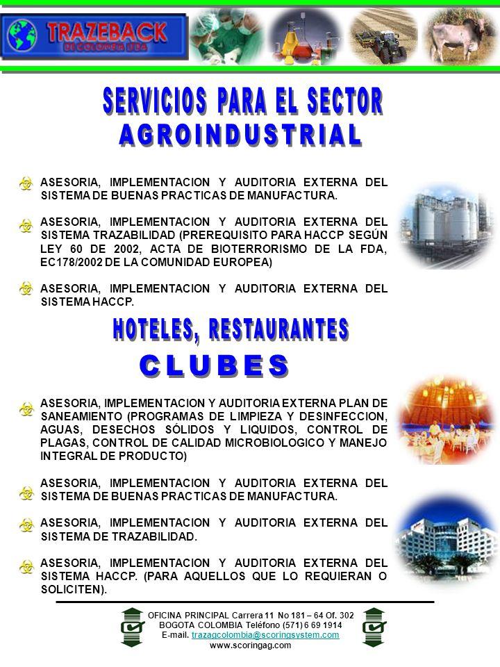 SERVICIOS PARA EL SECTOR AGROINDUSTRIAL