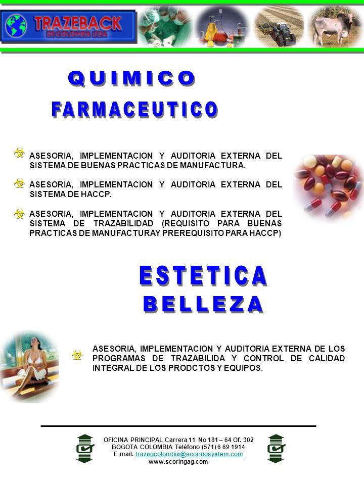 QUIMICO FARMACEUTICO ESTETICA BELLEZA