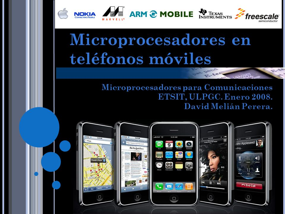 Microprocesadores en teléfonos móviles