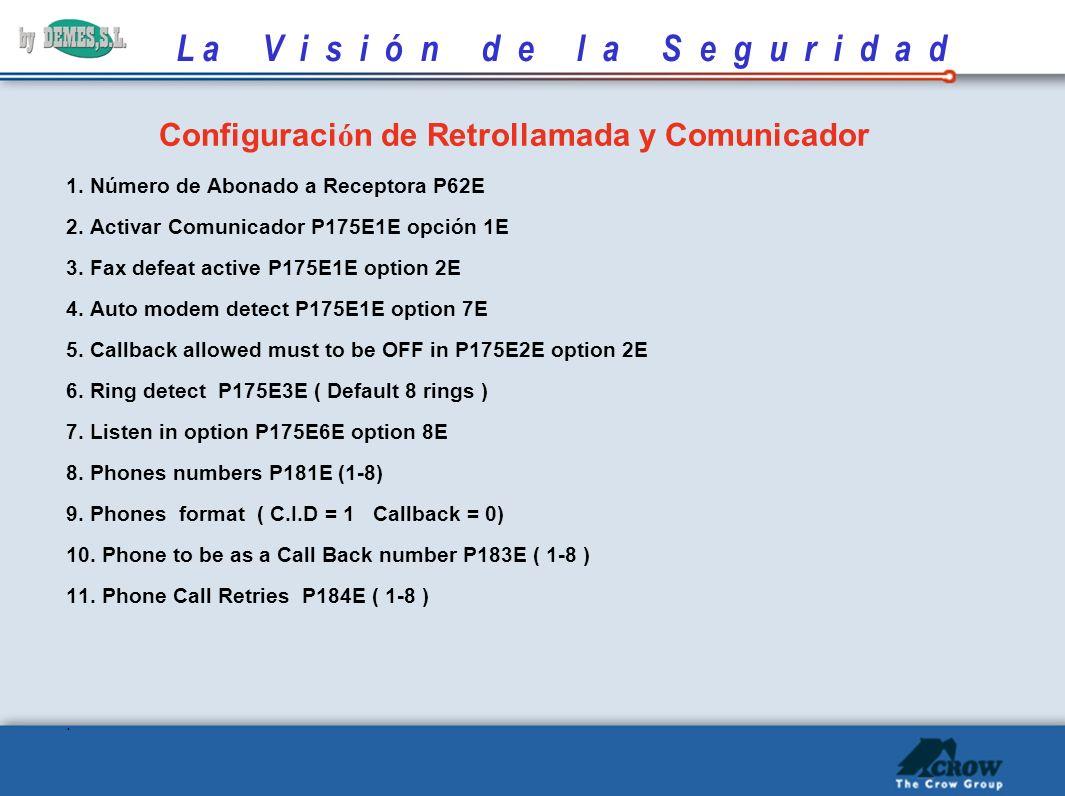 Configuración de Retrollamada y Comunicador