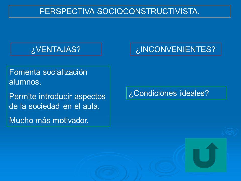 PERSPECTIVA SOCIOCONSTRUCTIVISTA.
