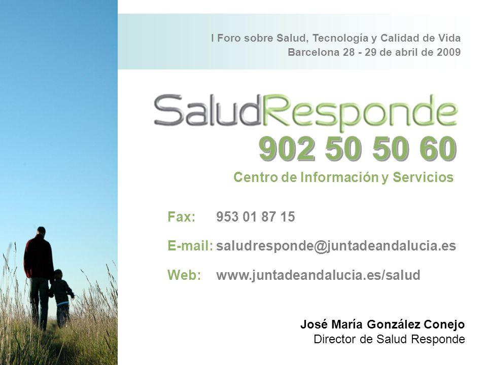 902 50 50 60 Centro de Información y Servicios Fax: 953 01 87 15
