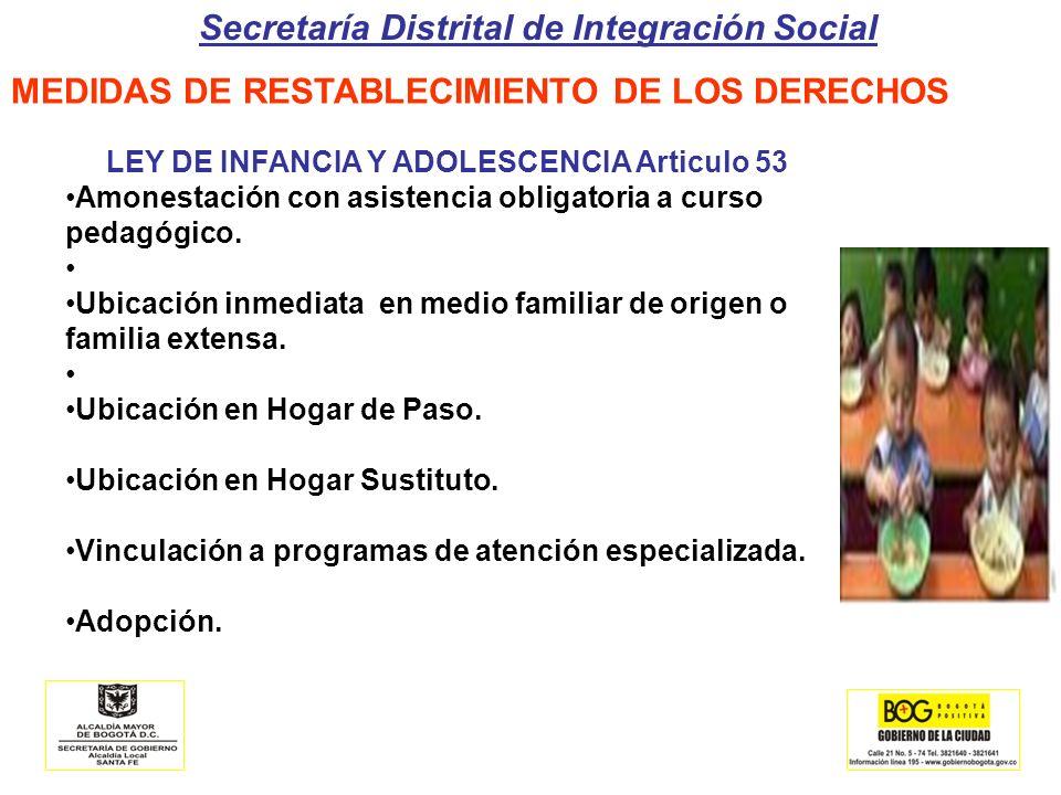 LEY DE INFANCIA Y ADOLESCENCIA Articulo 53