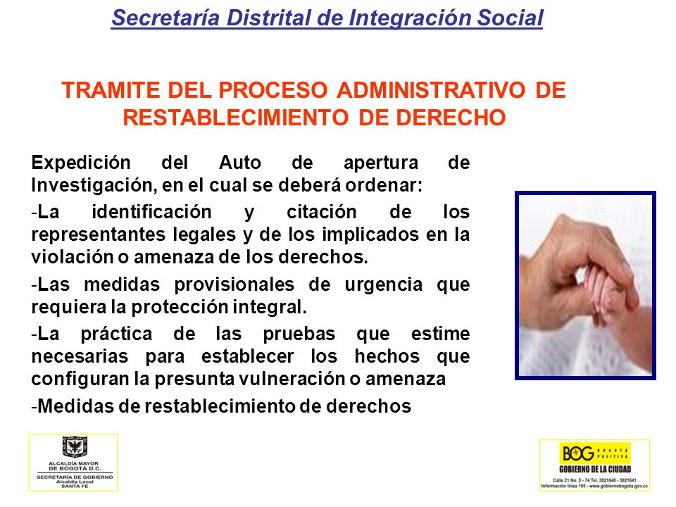 TRAMITE DEL PROCESO ADMINISTRATIVO DE RESTABLECIMIENTO DE DERECHO