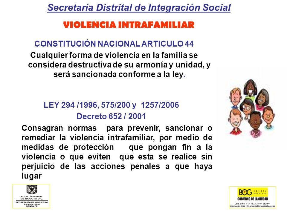 VIOLENCIA INTRAFAMILIAR CONSTITUCIÓN NACIONAL ARTICULO 44