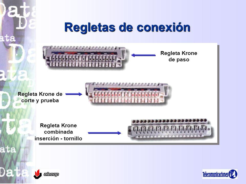 Regletas de conexión Regleta Krone de paso