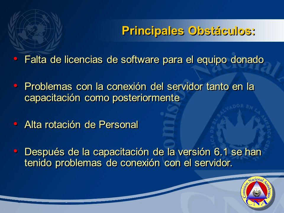 Principales Obstáculos: