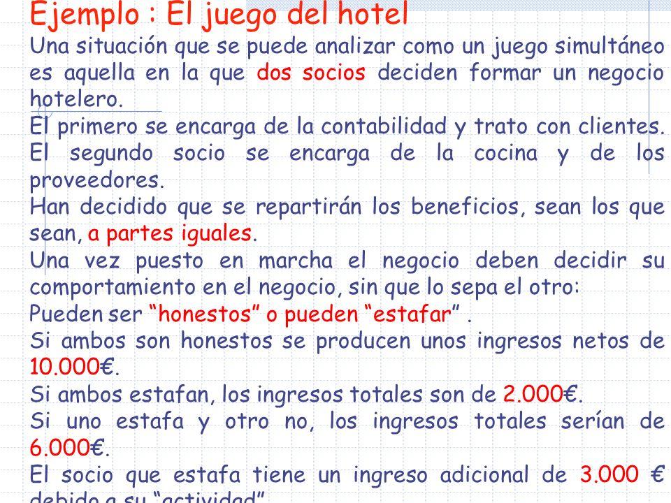 Ejemplo : El juego del hotel