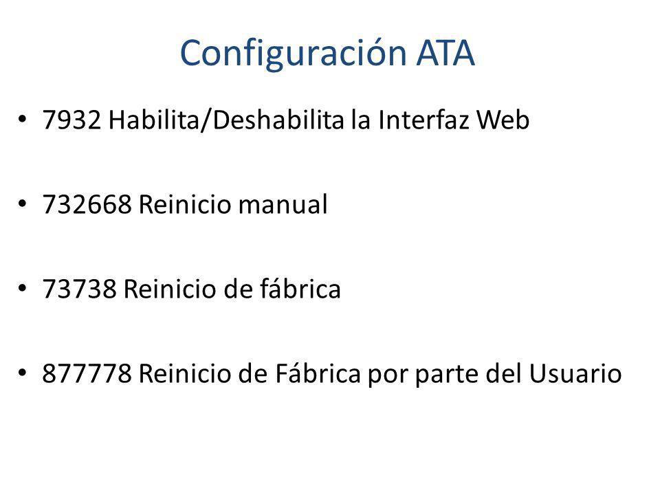 Configuración ATA 7932 Habilita/Deshabilita la Interfaz Web