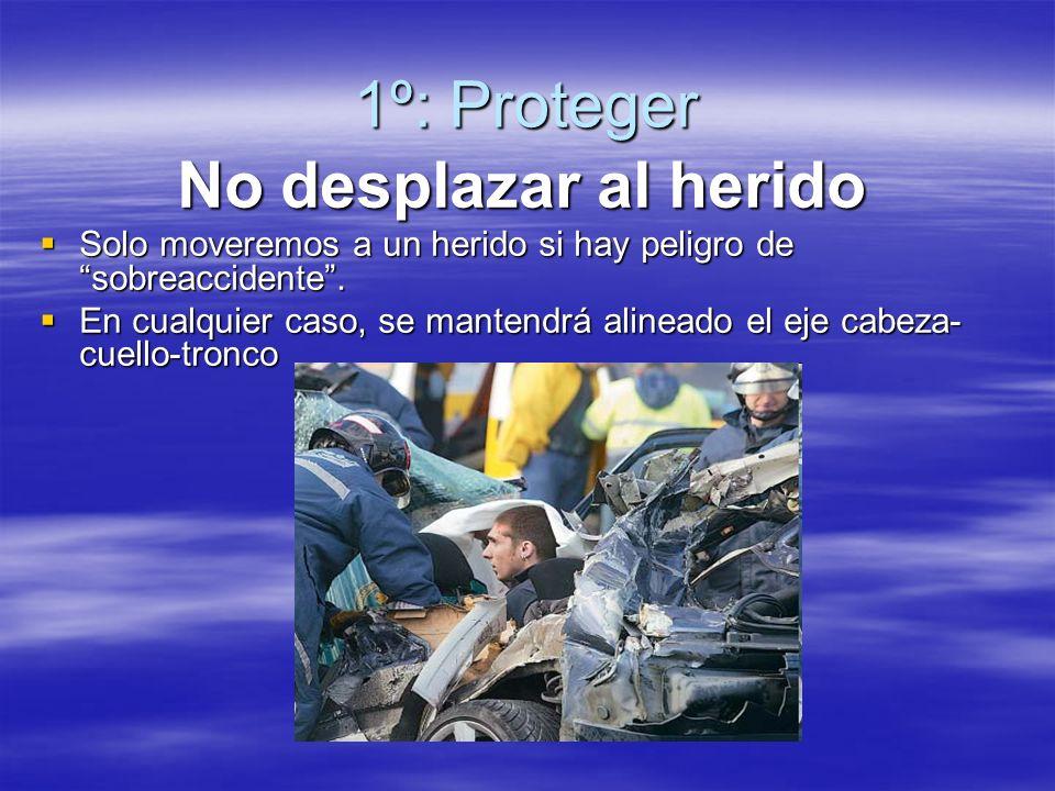1º: Proteger No desplazar al herido