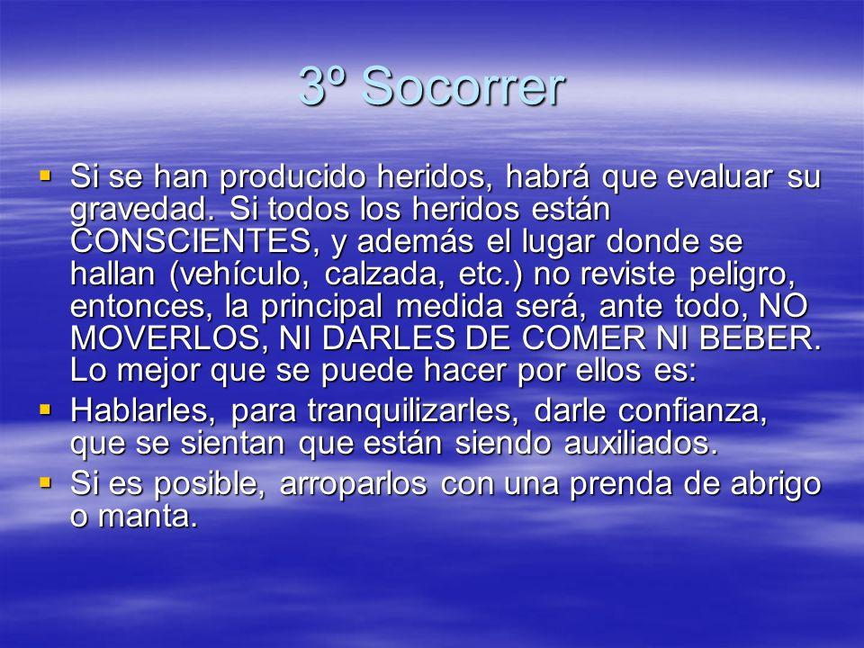 3º Socorrer