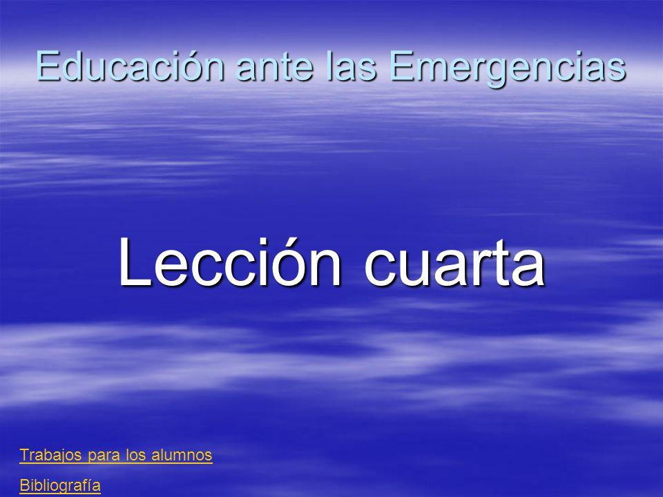 Educación ante las Emergencias