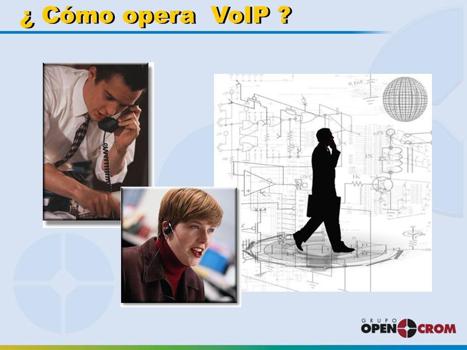 ¿ Cómo opera VoIP