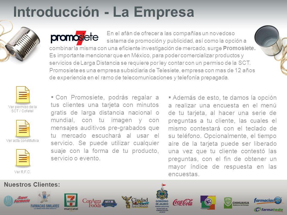 Introducción - La Empresa