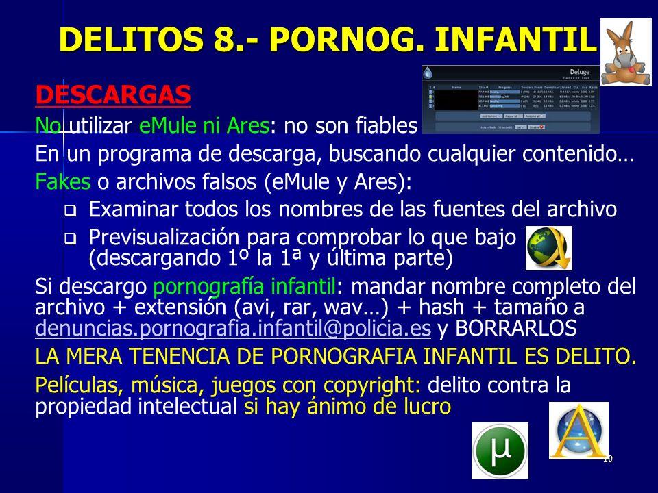 DELITOS 8.- PORNOG. INFANTIL
