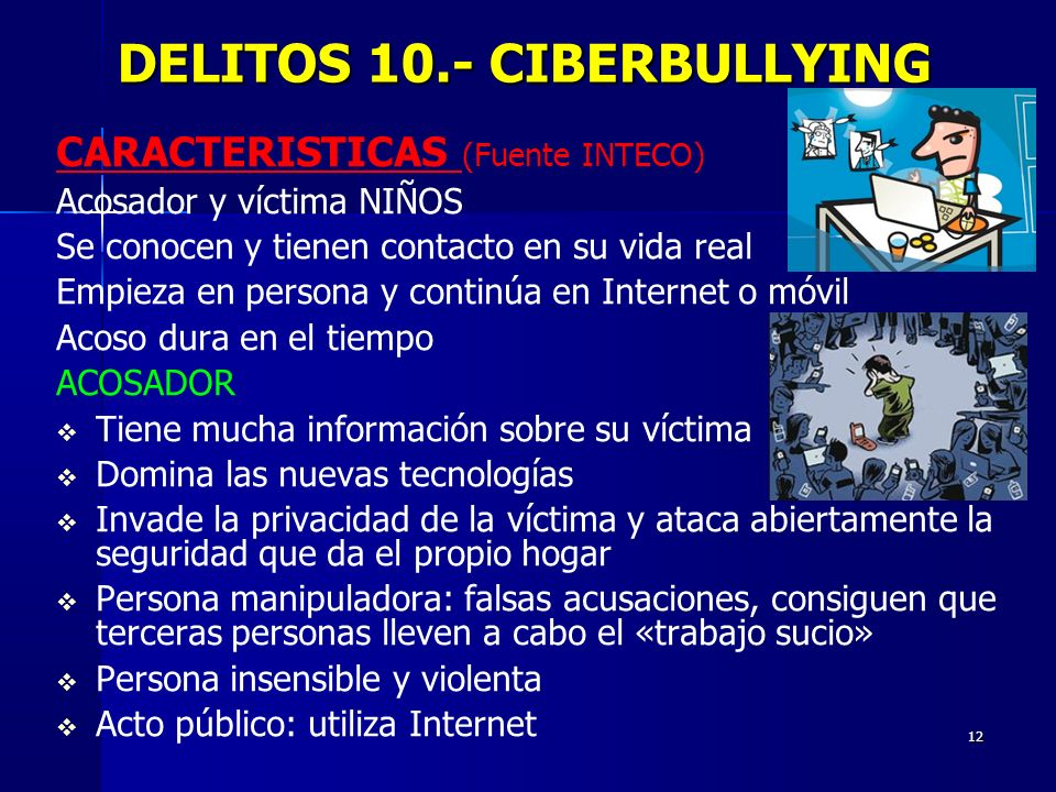 DELITOS 10.- CIBERBULLYING