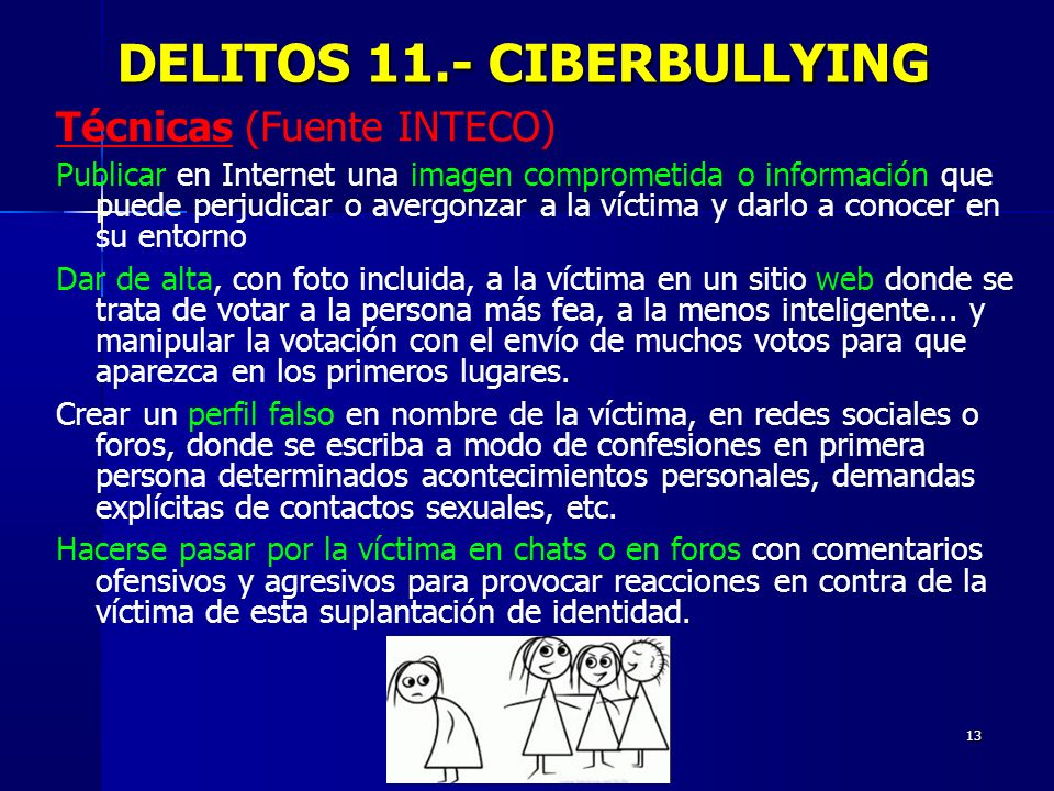 DELITOS 11.- CIBERBULLYING
