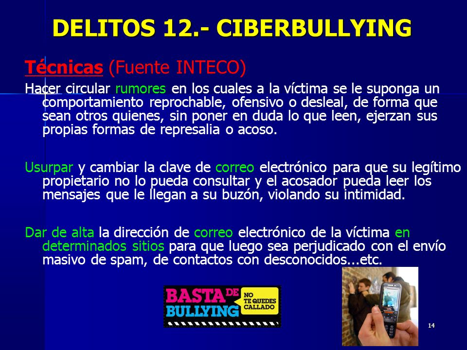 DELITOS 12.- CIBERBULLYING