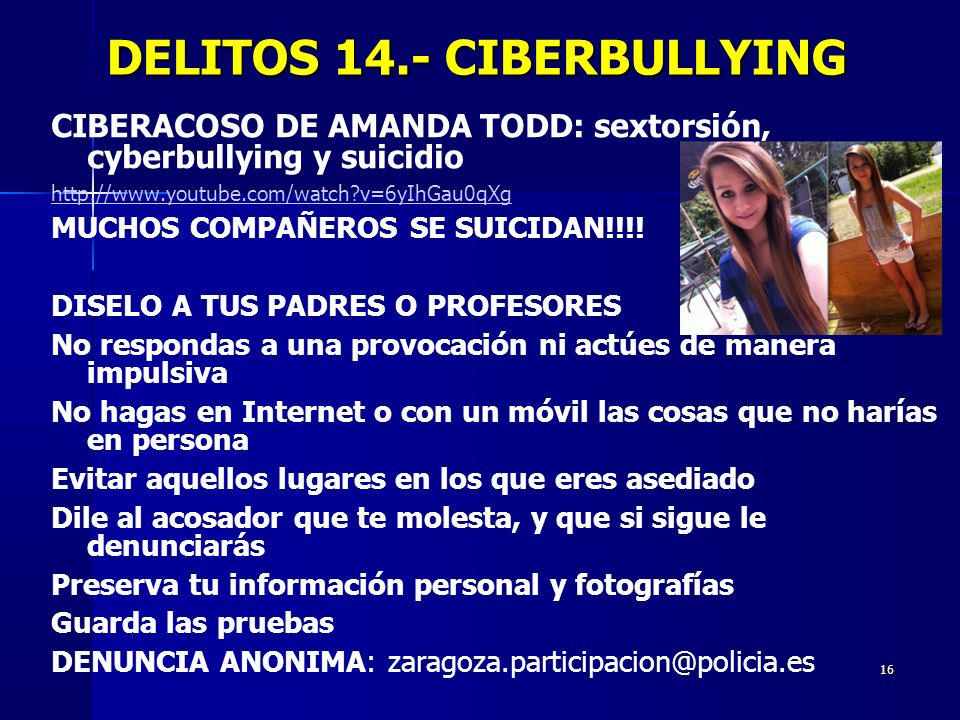 DELITOS 14.- CIBERBULLYING