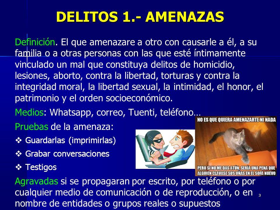 DELITOS 1.- AMENAZAS