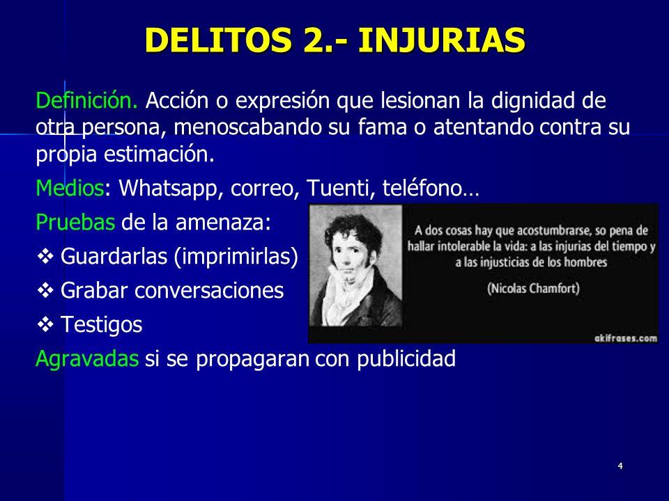 DELITOS 2.- INJURIAS