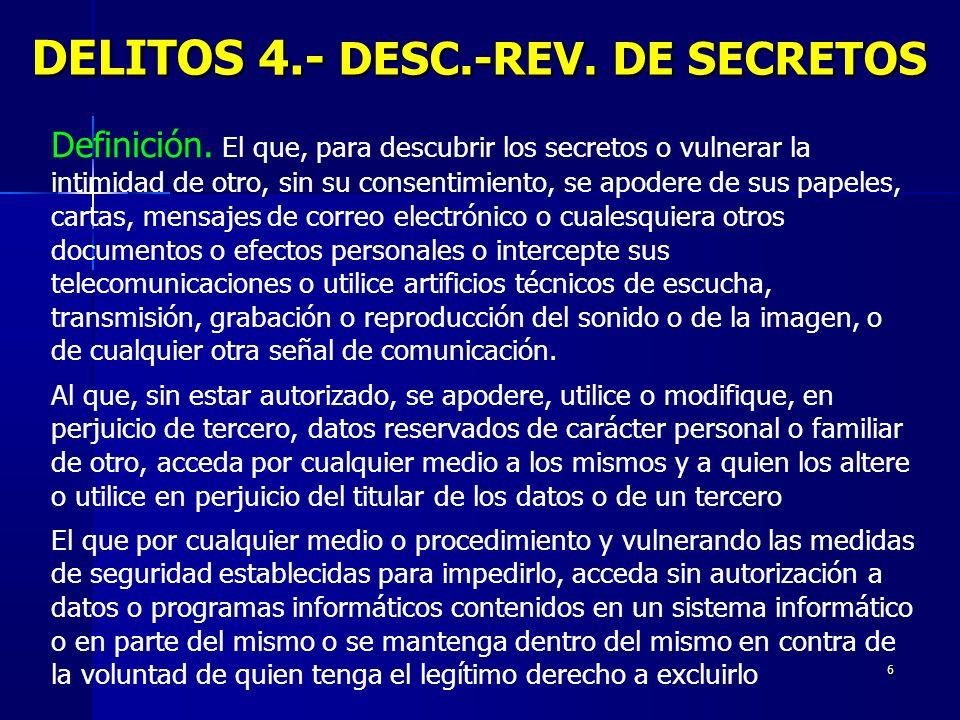 DELITOS 4.- DESC.-REV. DE SECRETOS