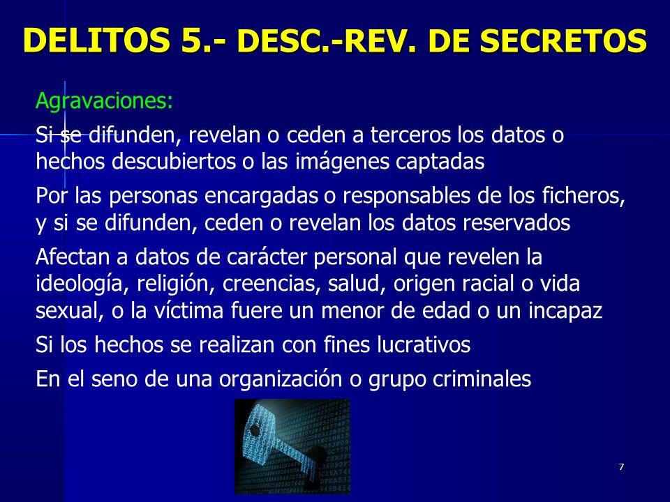 DELITOS 5.- DESC.-REV. DE SECRETOS