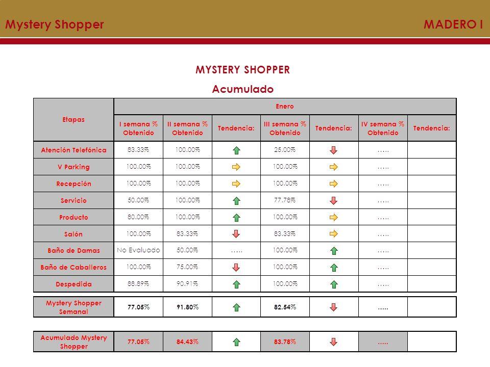 Mystery Shopper MADERO I