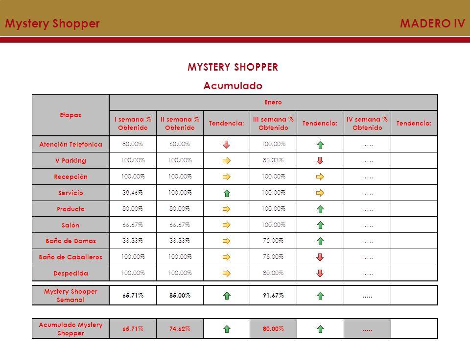 Mystery Shopper MADERO IV