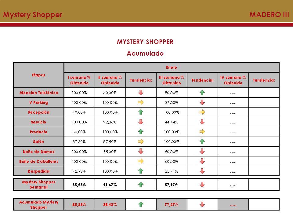 Mystery Shopper MADERO III