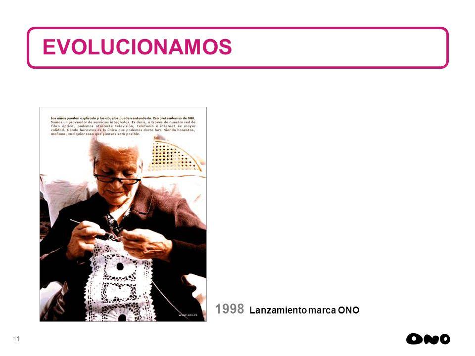 EVOLUCIONAMOS 1998 Lanzamiento marca ONO