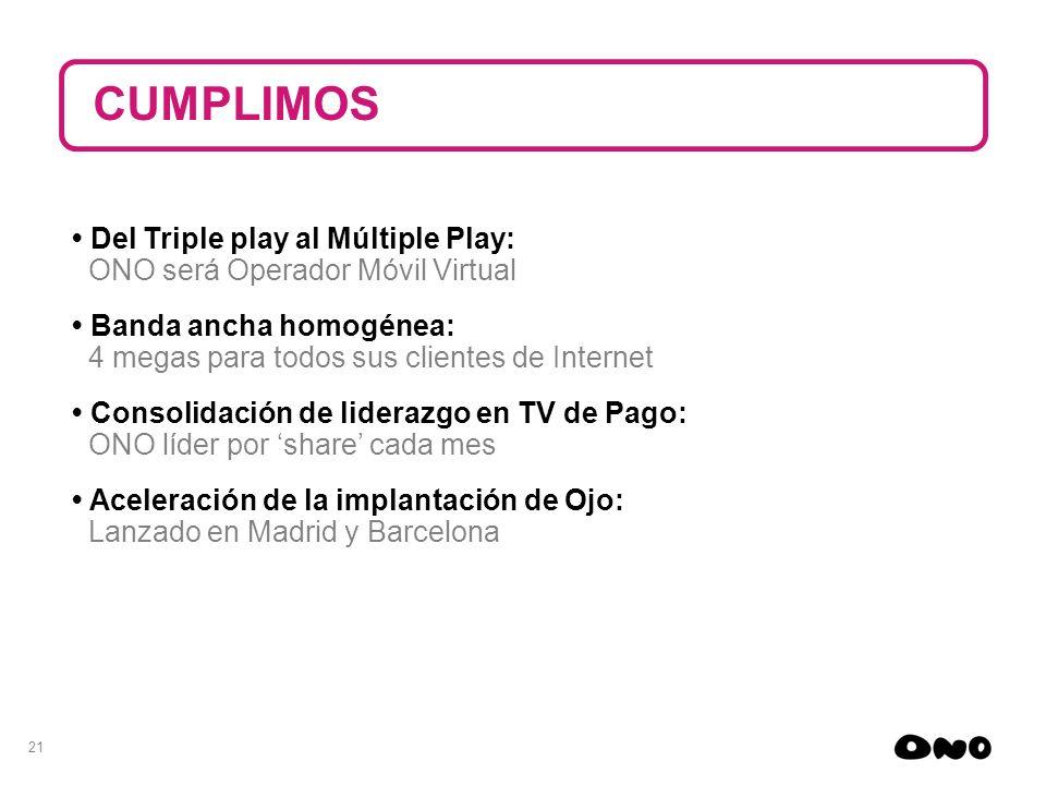 CUMPLIMOS • Del Triple play al Múltiple Play: