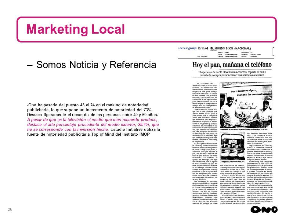 Marketing Local Somos Noticia y Referencia