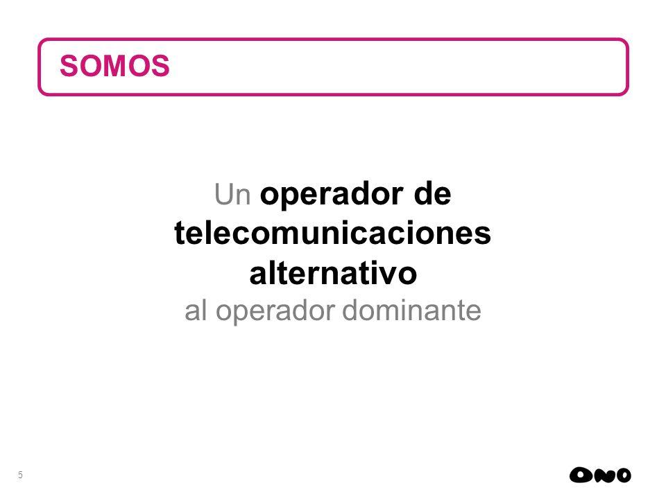 telecomunicaciones alternativo SOMOS Un operador de