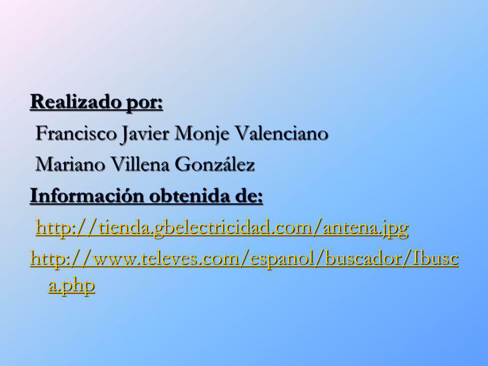 Realizado por: Francisco Javier Monje Valenciano. Mariano Villena González. Información obtenida de:
