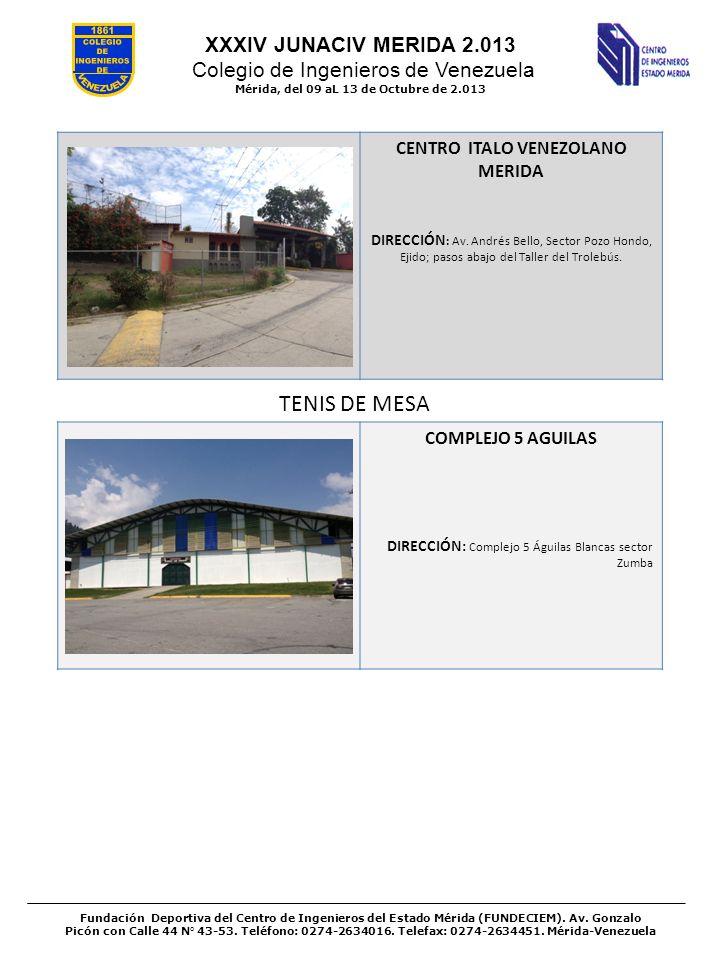 Mérida, del 09 aL 13 de Octubre de 2.013