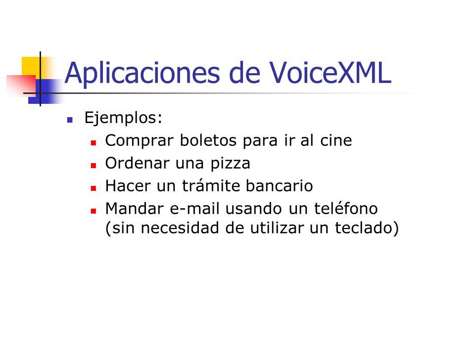 Aplicaciones de VoiceXML