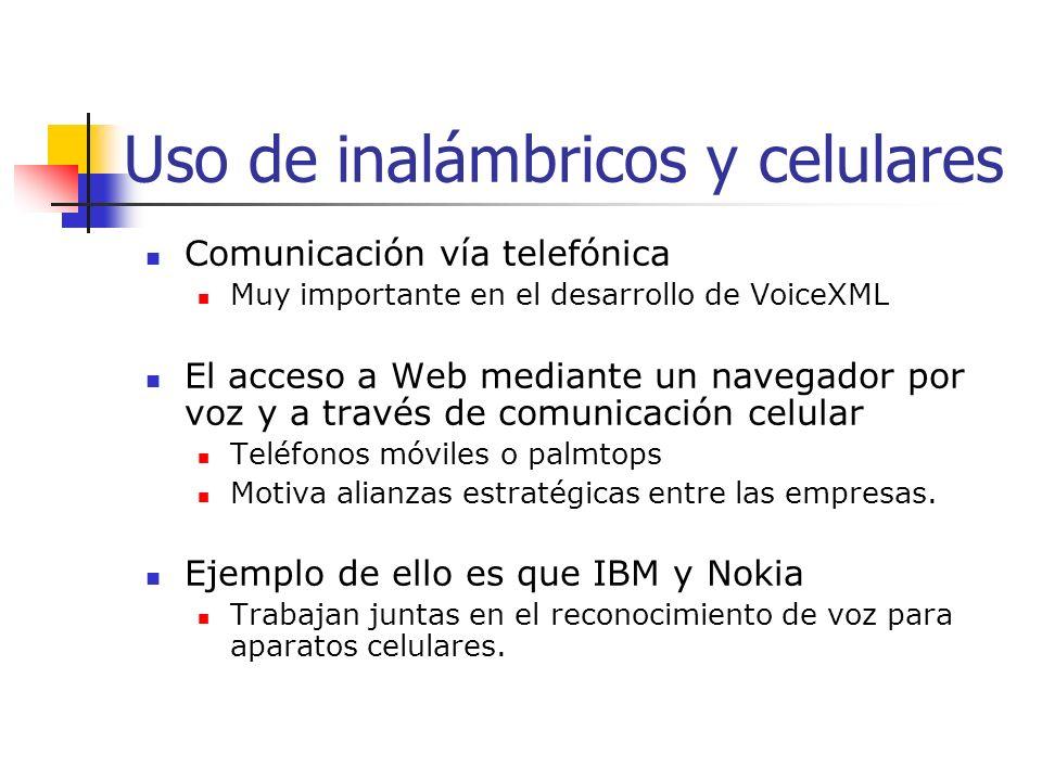 Uso de inalámbricos y celulares
