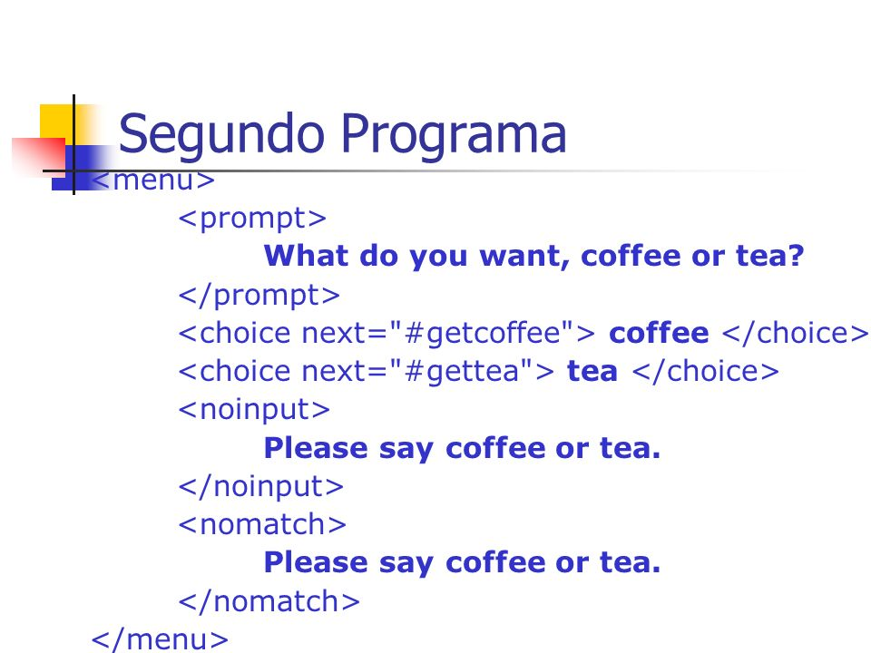 Segundo Programa <menu> <prompt>